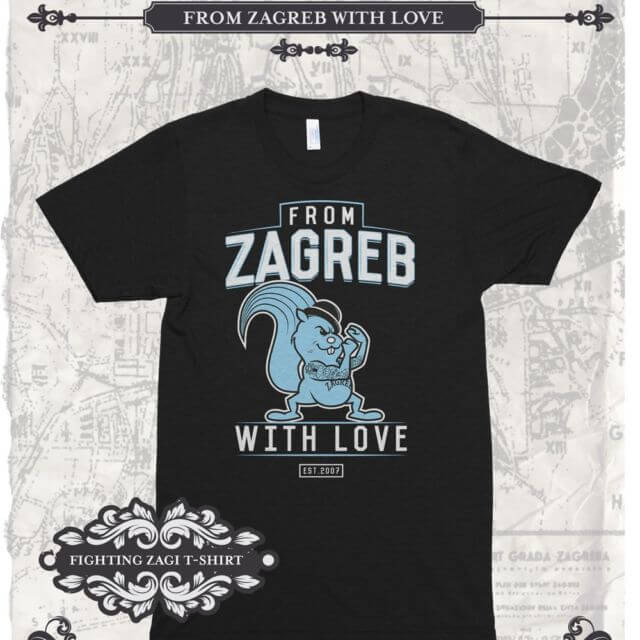 t-shirt Fighting Zagi black - From Zagreb With Love