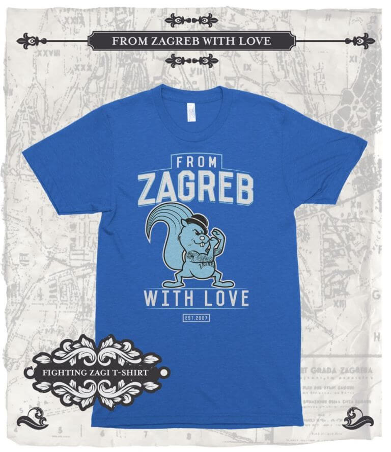 t-shirt Fighting Zagi blue - From Zagreb With Love