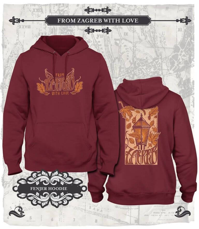 From Zagreb With Love Hoodie Fenjer