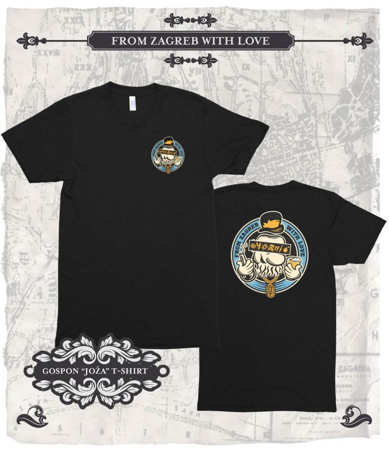 From Zagreb With Love Tshirt Joza crna