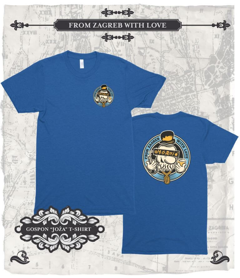 From Zagreb With Love Tshirt Joza plava
