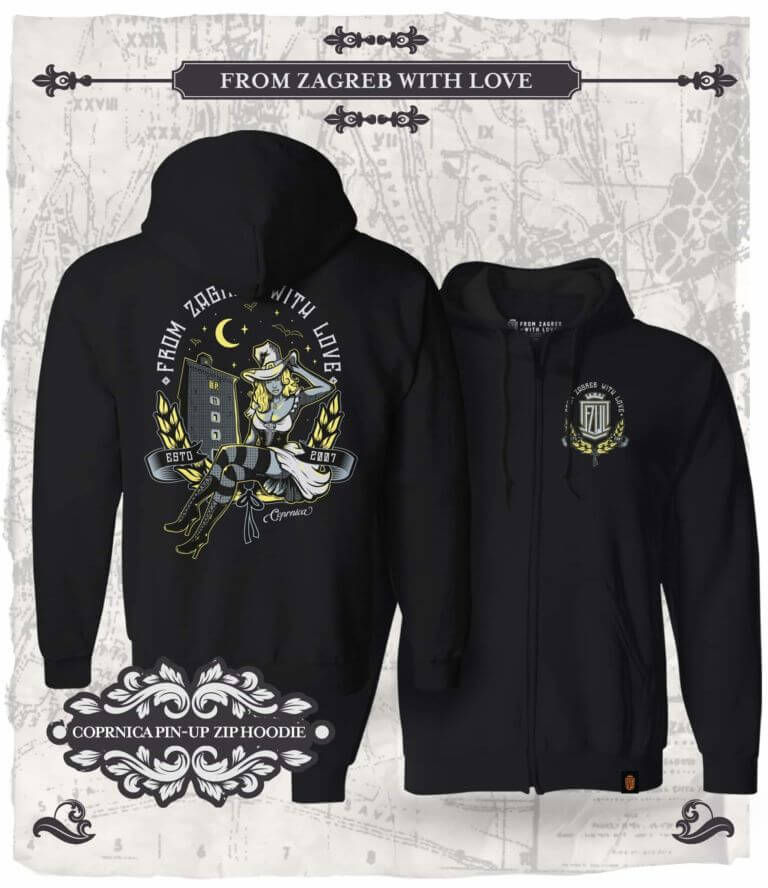 From Zagreb With Love zip hoodie Pin-Up Coprnica